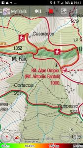 mappa kompass alpe ompio